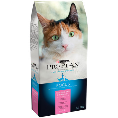 Purina Pro Plan Focus Adult Sensitive Skin & Stomach Lamb & Rice Formula Cat Food 3.5 lb. Bag