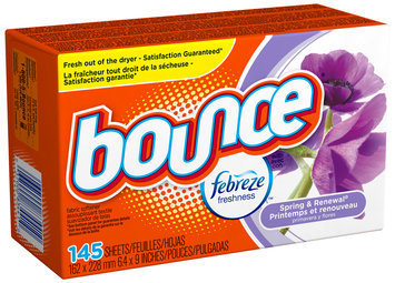Bounce with Febreze Spring & Renewal Fabric Softener Sheets 145 ct Box
