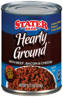 Stater Bros. Hearty Ground With Beef, Bacon & Cheese Dog Food 13.2 Oz Can