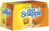 SNAPPLE Lemonade 16 Oz Diet Iced Tea 12 PK GLASS BOTTLES