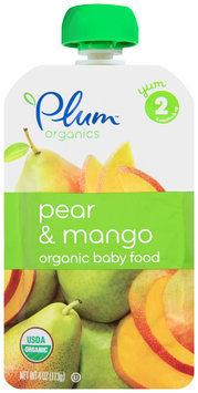 Plum Organics® Stage 2 Pear & Mango Organic Baby Food 4 oz. Pouch