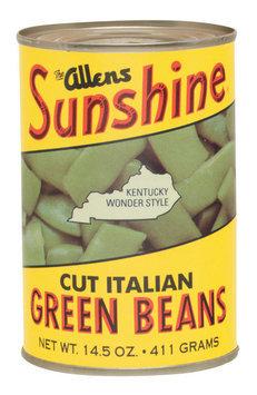 The Allens Sunshine Cut Italian Kentucky Wonder Style Green Beans 14.5 Oz Can