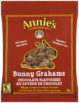Annie's Homegrown® Bunny Grahams® Chocolate Flavoured Whole Grain Graham Snacks 28g Bag