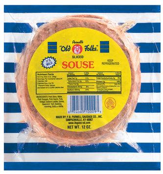 Purnell's Old Folks Sliced Mild Souse 12 Oz