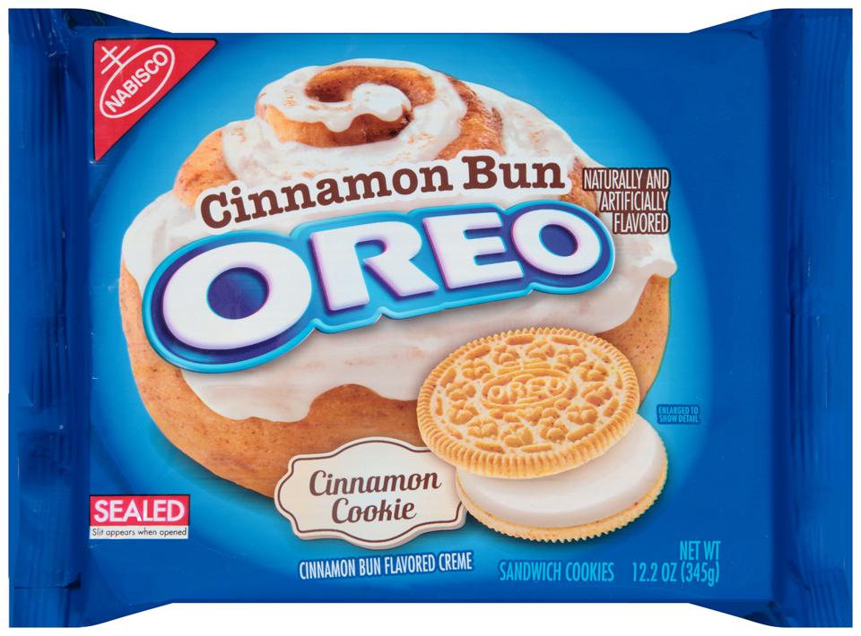 Nabisco Oreo Sandwich Cookies Cinnamon Bun