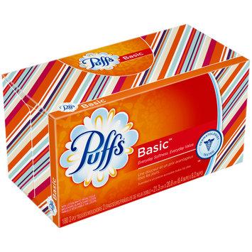 Basic Puffs Basic Facial Tissues; 8 Family Boxes; 180 Tissues per Box