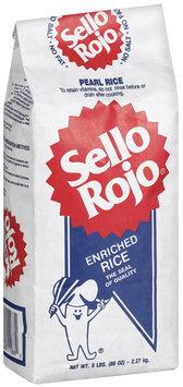 Sello Rojo Pearl Enriched Rice 5 Lb Bag
