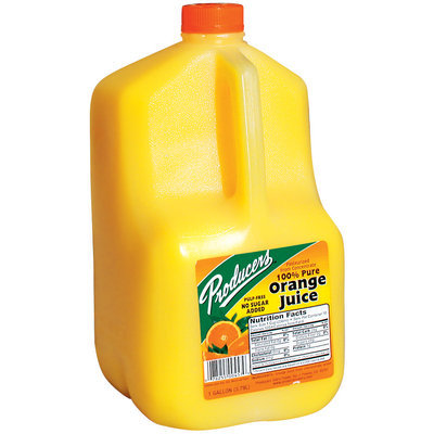 Producers 100% Pure from Concentrate Orange Juice
