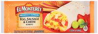 El Monterey® Breakfast Supreme Egg, Sausage & Cheese Burrito 4.5 oz. Wrapper