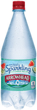 Arrowhead® Sparkling Cucumber Melon Water 33.8 fl. oz. Bottle