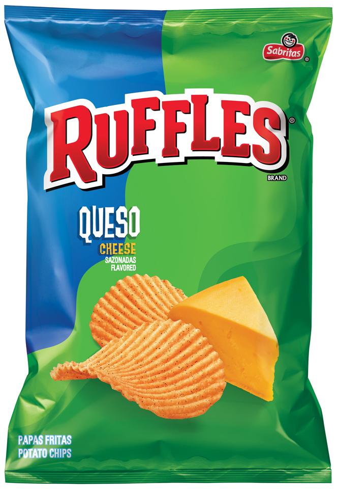 Sabritas® Ruffles® Queso Cheese Flavored Potato Chips