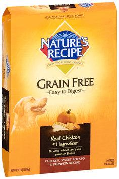 Nature's Recipe® Chicken, Sweet Potato & Pumpkin Grain Free Dog Food 24 lb. Bag