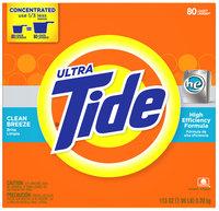 Tide Ultra Clean Breeze Scent Brisa Limpia HE Powder Laundry Detergent