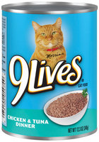 9 Lives® Chicken & Tuna Dinner Cat Food 12.3 oz. Can