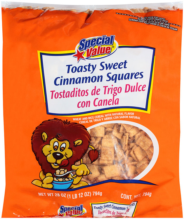 special value® toasty sweet cinnamon squares wheat and rice cereal