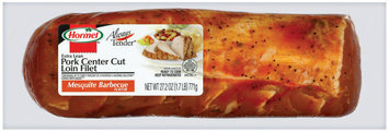 HORMEL ALWAYS TENDER Extra Lean Center Cut Mesquite Barbecue Flavor Pork Loin Filet 27.2 OZ WRAPPER