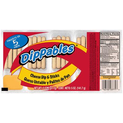 Dippables® Cheese Dip & Sticks 5-1 oz. Packs