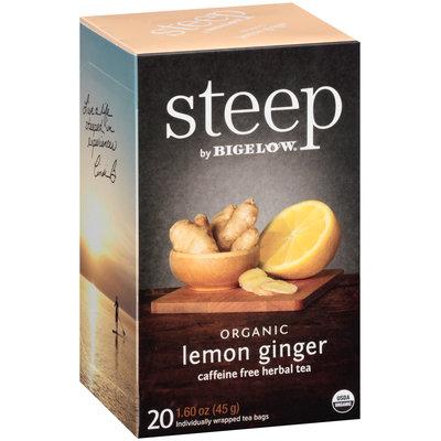 Steep by Bigelow® Organic Lemon Ginger Caffeine Free Herbal Tea 20 ct. Bags