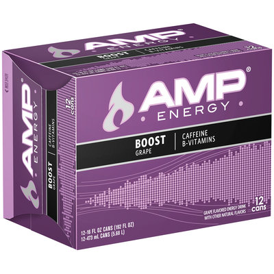AMP® Energy Boost Grape 12 Pack 16 fl. oz. Cans