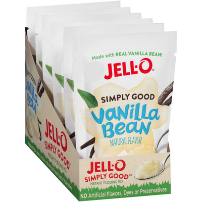 Jell-O® Simply Good Vanilla Bean Instant Pudding Mix 3.4 oz. Pouch
