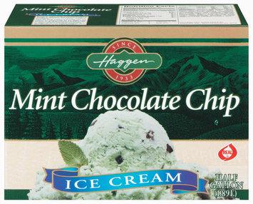 Haggen Mint Chocolate Chip Ice Cream .5 Gal Carton