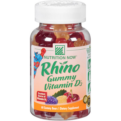 Nutrition Now® Rhino Gummy Vitamin D3™ 60 ct. Plastic Bottle