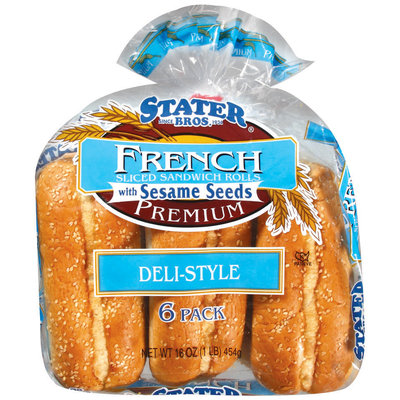 Stater Bros. French Deli Style W/Sesame Seeds Sliced Sandwich Rolls 16 Oz Bag