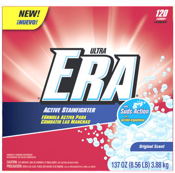 Era Ultra Active Stainfighter Original Powder Laundry Detergent 137 oz. Box