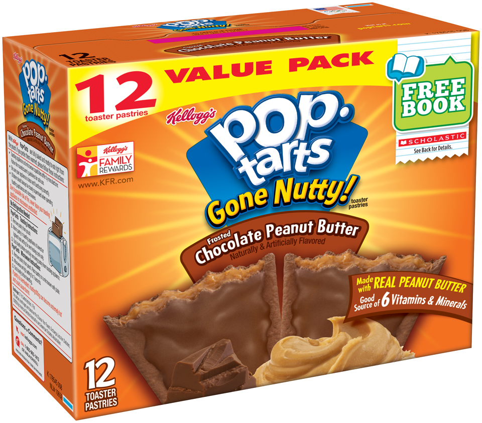 Kellogg's® Pop-Tarts® Gone Nutty!™ Frosted Chocolate Peanut Butter Toaster Pastries 12 ct Box