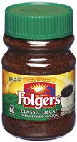 Folgers Classic Decaf Instant Coffee 4 Oz Plastic Jar