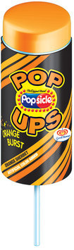 Popsicle Orange Sherbet Pop Ups Single Serve Novelty
