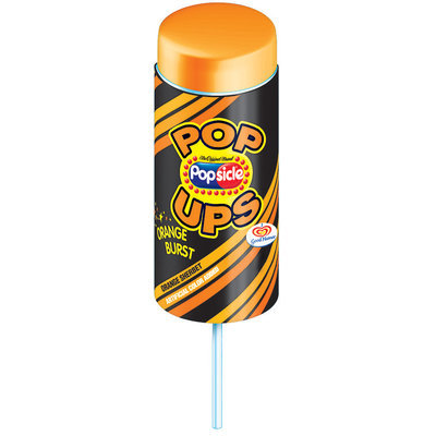 Popsicle Orange Sherbet Pop Ups Single Serve Novelty