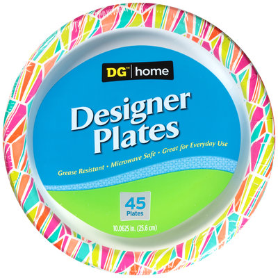 DG™ Home 10.06 Inch Designer Plates 45 ct Pack