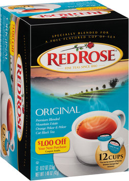Red Rose® Original Tea Single Serve Cups 12 ct Box
