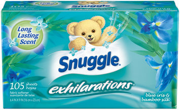 Snuggle® Exhilarations® Blue Iris & Bamboo Silk® Fabric Softener Dryer Sheets 105 ct Box