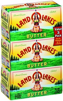 Land O Lakes® Sweet Cream Butter Salted 3-1 lb. Pack