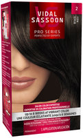 Vidal Sassoon Pro Series 2 Black Hair Color Kit