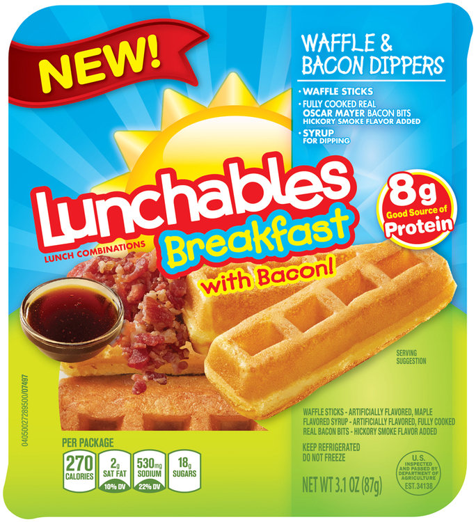 Lunchables Breakfast Waffle & Bacon Dippers