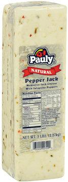 Pauly® Natural Pepper Jack Cheese 5 lb. brick