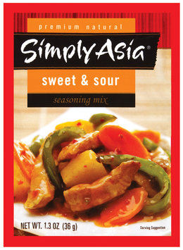 Simply Asia Sweet & Sour Dry Seasoning Mixes 1.3 Oz Packet