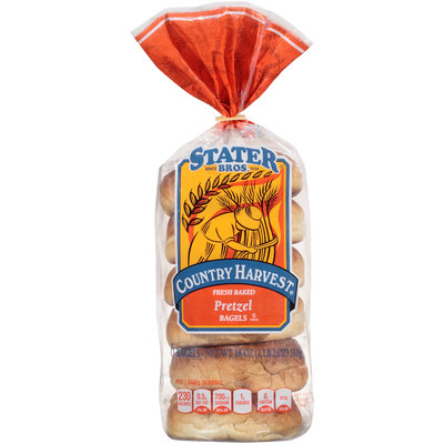 Stater Bros.® Country Harvest® Pretzel Bagels 18 oz. Bag