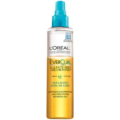 EverCurl Curl Care System Sulfate-Free Silk & Gloss Dual Oil Care Spray Bottle