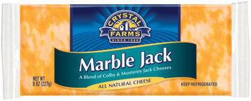 Crystal Farms Marble Jack Cheese 8 Oz Brick