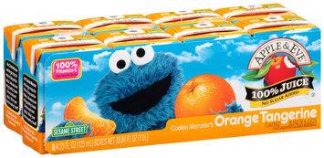 Apple & Eve® Sesame Street® Cookie Monster's Orange Tangerine 100% Juice 8-4.23 fl. oz. Aseptic Packs