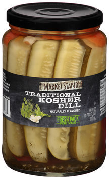 Market Stand Traditional Kosher Dill Fresh Pack Pickle Spears 24 fl. oz. Jar