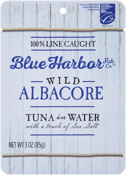 Blue Harbor Fish Co.™ Wild Albacore Tuna in Water with a Touch of Sea Salt 3 oz. Pouch
