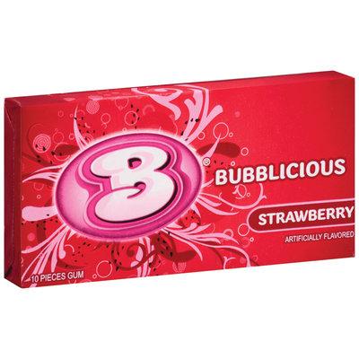 Bubblicious 10 Piece Packs Strawberry Bubble Gum 10 Ct