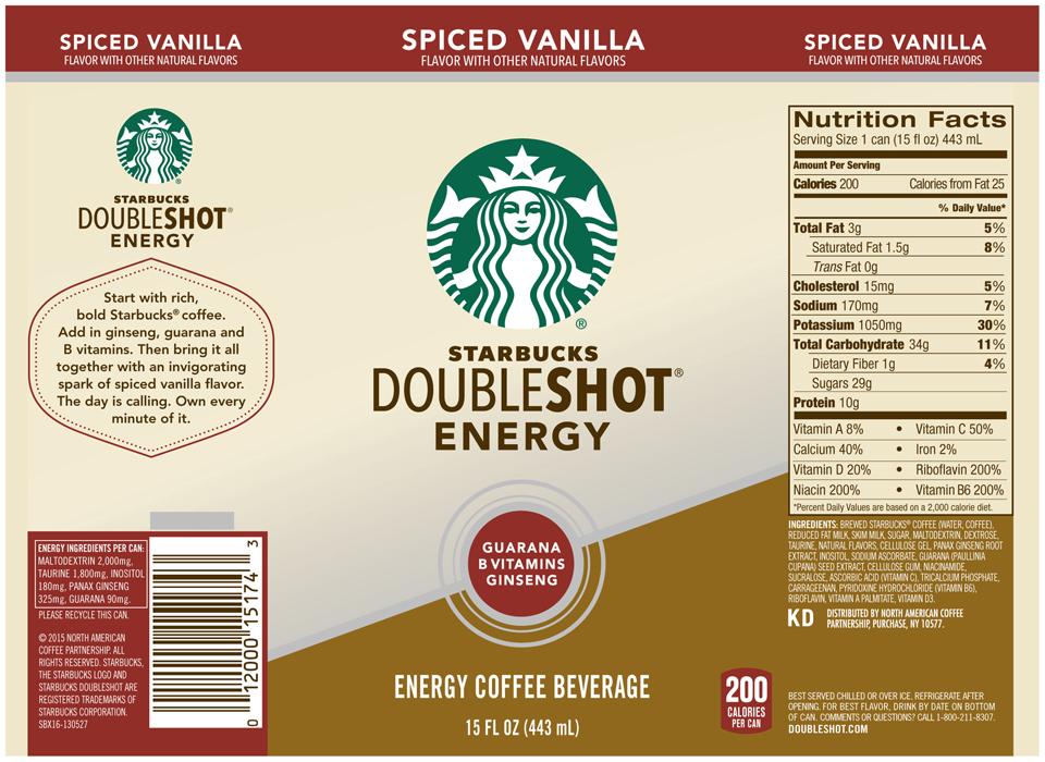 Starbucks® Doubleshot® Energy Spiced Vanilla Coffee Drink 15 fl. oz. Can
