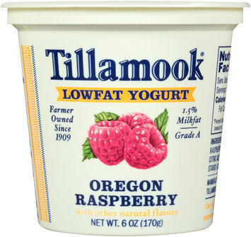 Tillamook® Oregon Raspberry Lowfat Yogurt 6 oz. Cup