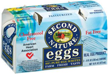 Second Nature Liquid Fat Free 8 Oz Egg Product 2 Pk Carton
